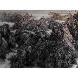 刘振平山水作品 (1)