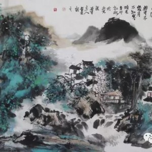 刘振平山水作品