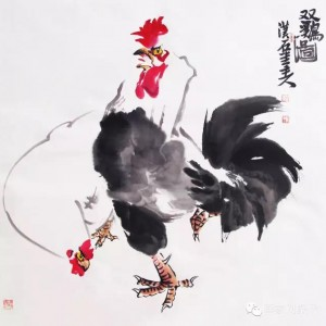 双鸡图 (1)