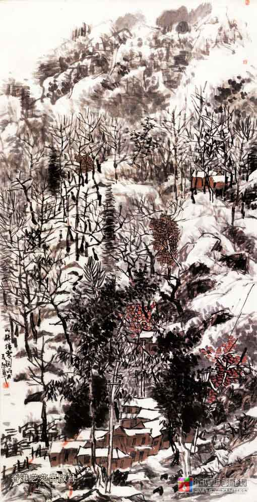 山林积雪图