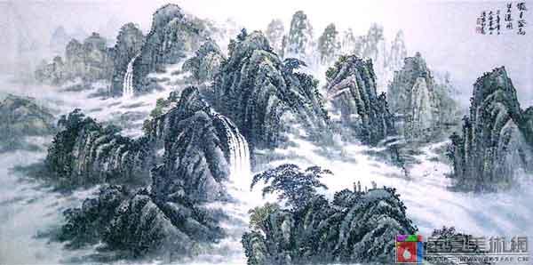 山水十里瀑布声