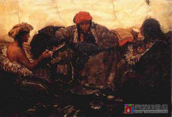 西藏组画之一
